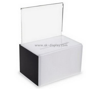 Customize acrylic cheap donation boxes DBS-1045