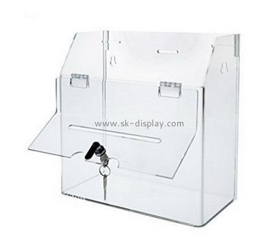 Customize acrylic large donation box DBS-1048
