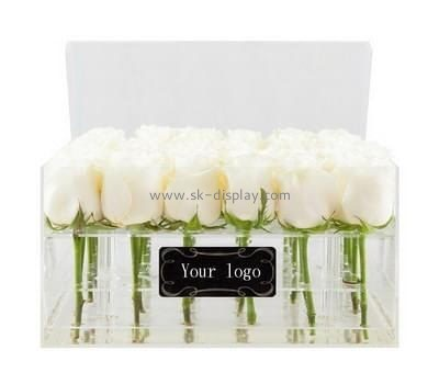Customize acrylic rose flower box DBS-1054