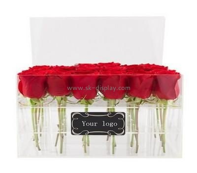 Customize acrylic red rose box DBS-1053