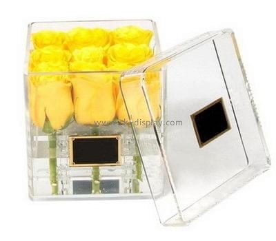 Customize lucite luxury rose box DBS-1057
