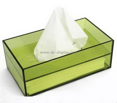 Customize acrylic large tissue box cover DBS-1068