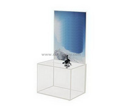 Customize acrylic fundraising money box DBS-1071