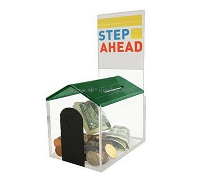 Customize acrylic lockable donation boxes DBS-1073