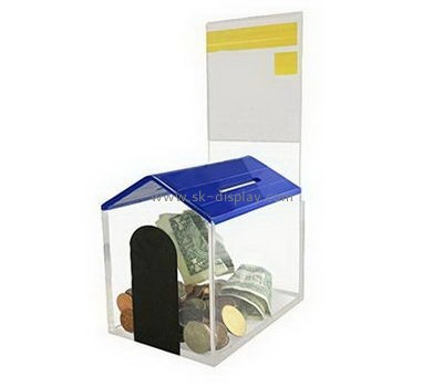 Customize acrylic donation money box DBS-1074