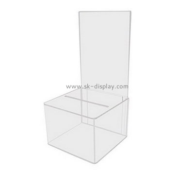 Customize acrylic charity box DBS-1082