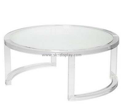 Customize lucite round coffee table AFS-412
