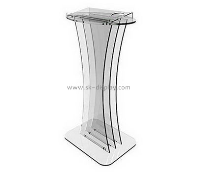 Customize acrylic clear lectern AFS-444