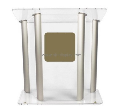 Customize plexiglass podium AFS-442