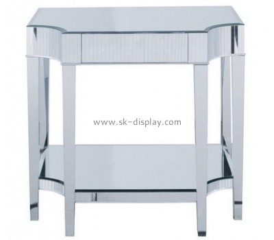 Customize acrylic living room end tables with storage AFS-451