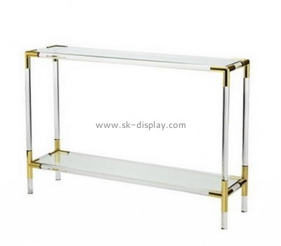 Customize lucite narrow side table with storage AFS-454