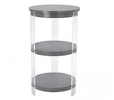 Customize acrylic round side table with storage AFS-464