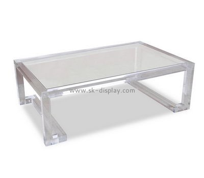 Customize acrylic big low coffee table AFS-470
