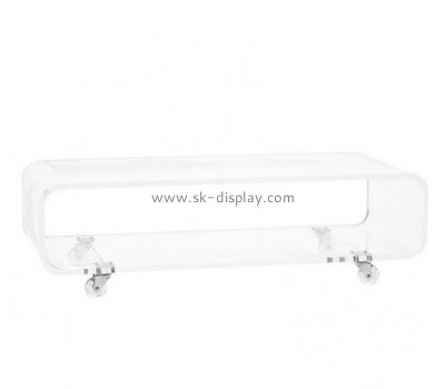 Customize lucite low narrow coffee table AFS-471