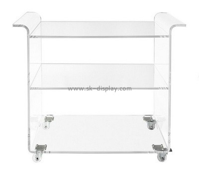 Customize lucite side table with storage AFS-474