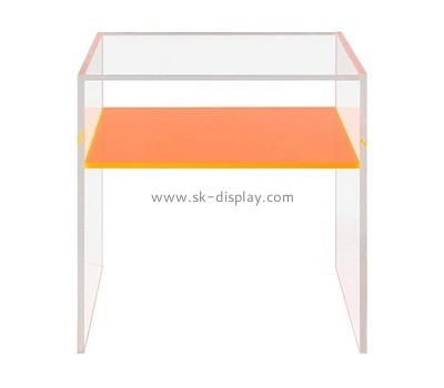 Acrylic end tables with storage AFS-475