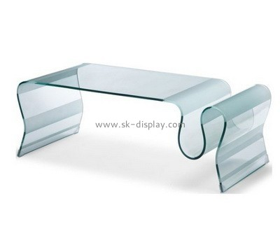 Acrylic modern coffee table with storage AFS-478