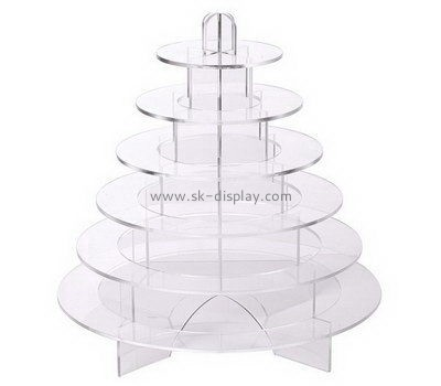 6 tiered round clear acrylic cupcake display stands FD-162