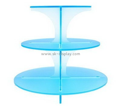 3 tiered round blue acrylic cake display stands FD-166