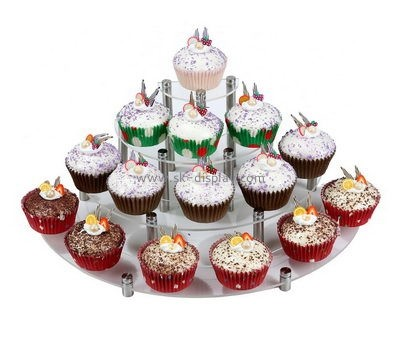 4 tiered round clear acrylic cupcake display stands FD-175