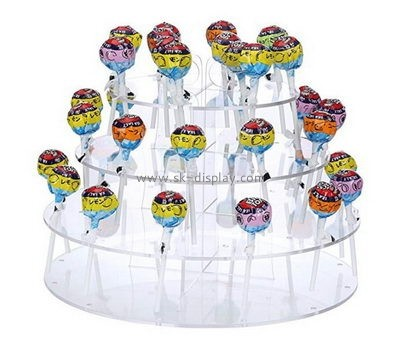3 tiered round clear acrylic lollipop display stands FD-174