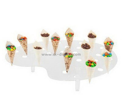 Custom clear acrylic mini ice-cream display holders FD-181