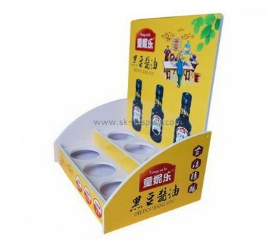 Customize 2 tiered acrylic soy sauce display stands FD-200