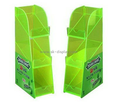 Customize 3 tiered acrylic Green arrow gum display racks FD-220