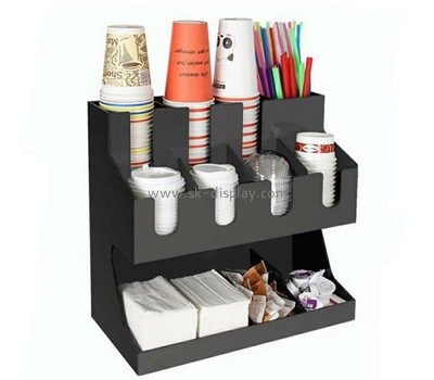 Customize acrylic cup organizer for coffee shop FD-227