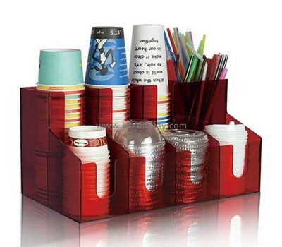 Customize acrylic organizer for coffee shop FD-226