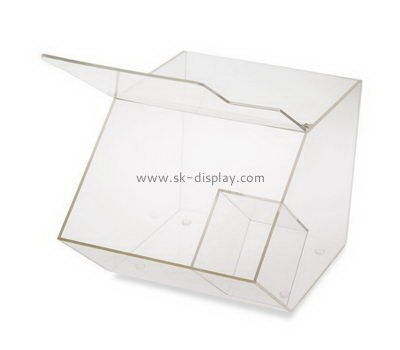 Customize counter top clear acrylic food storage box FD-237
