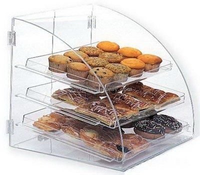 Customize counter top 3 tiered clear acrylic bread display cabinet FD-238