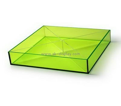 Customize green acrylic fruit serving tray FD-241