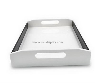 Customize acrylic serving tray with handles FD-243