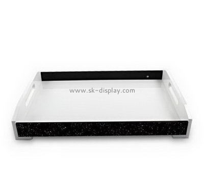 Customize large acrylic platter with handles FD-248