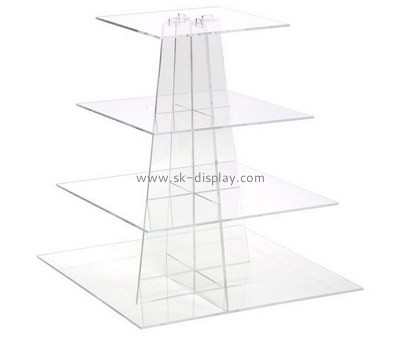 Customize 4 tiered acrylic cake and cupcake display stands FD-251