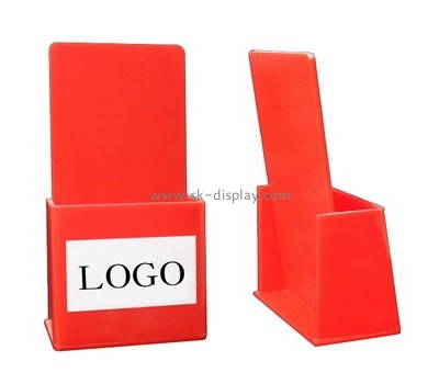 Customize red acrylic A5 brochure holder BD-875