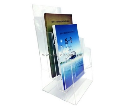 Customize 3 tiered clear acrylic book display holder BD-876