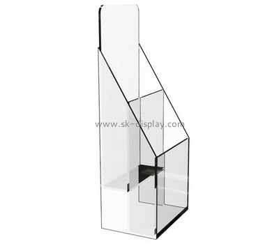 Customize 2 tiered clear acrylic A6 brochure holder BD-880
