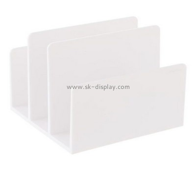 Custom white acrylic 3 sections file holders BD-886