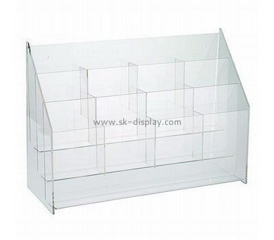 Custom clear acrylic multi sections brochure holders BD-887