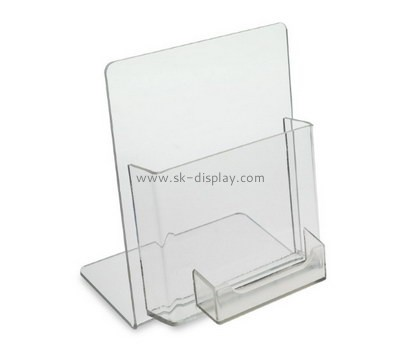 Custom acrylic brochure holder with business card holder BD-899
