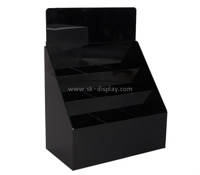 Custom tiered black acrylic brochure holder BD-923