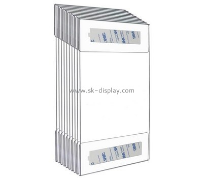 Custom acrylic leaflet holder with 3M tape BD-929