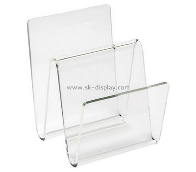 Custom W shape acrylic magazine holder BD-947