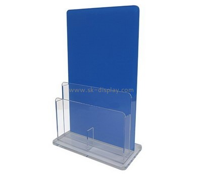 Custom vertical acrylic pamplet holder BD-954