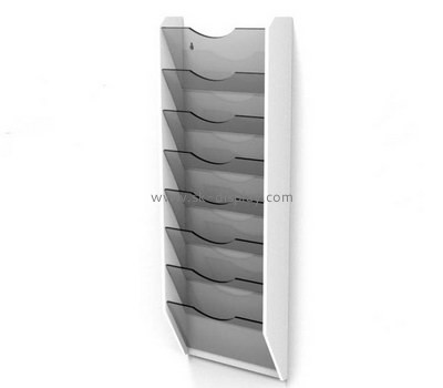 Custom wall 7 pockets acrylic pamphlet holders BD-956