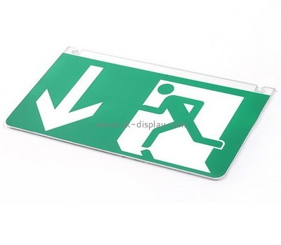 Custom wall acrylic emergency exit sign BD-978