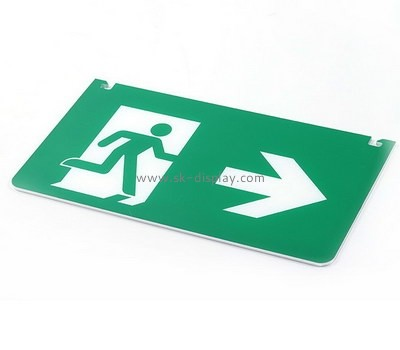 Custom wall acrylic emergency exit sign BD-977