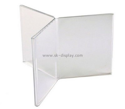 Custom 3 sided acrylic sign stands BD-983